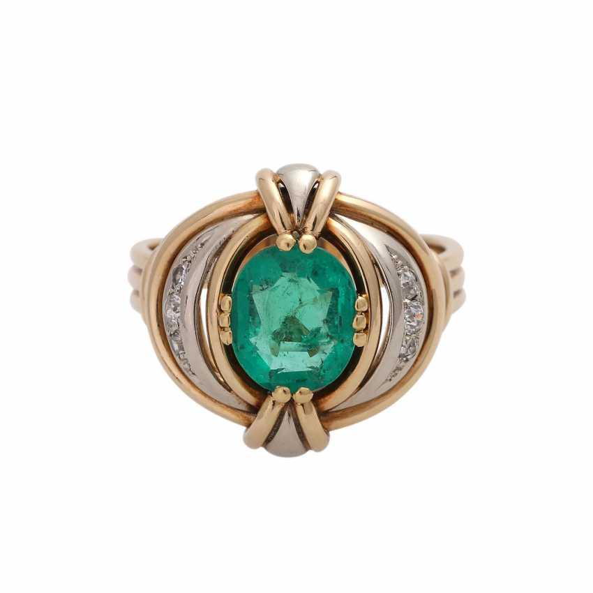 Emerald ring with Diamantbeatz - photo 1