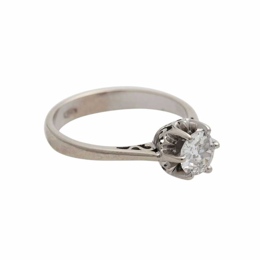 Solitaire ring with old European cut diamond, approx 0.5 ct, WHITE (H)/P1, - photo 2