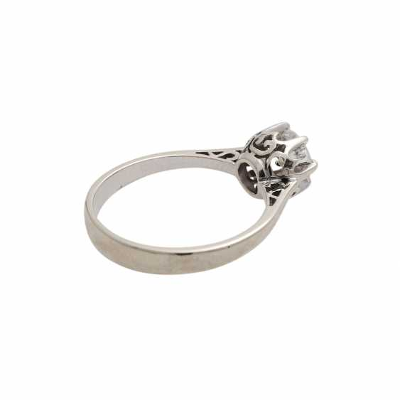 Solitaire ring with old European cut diamond, approx 0.5 ct, WHITE (H)/P1, - photo 3