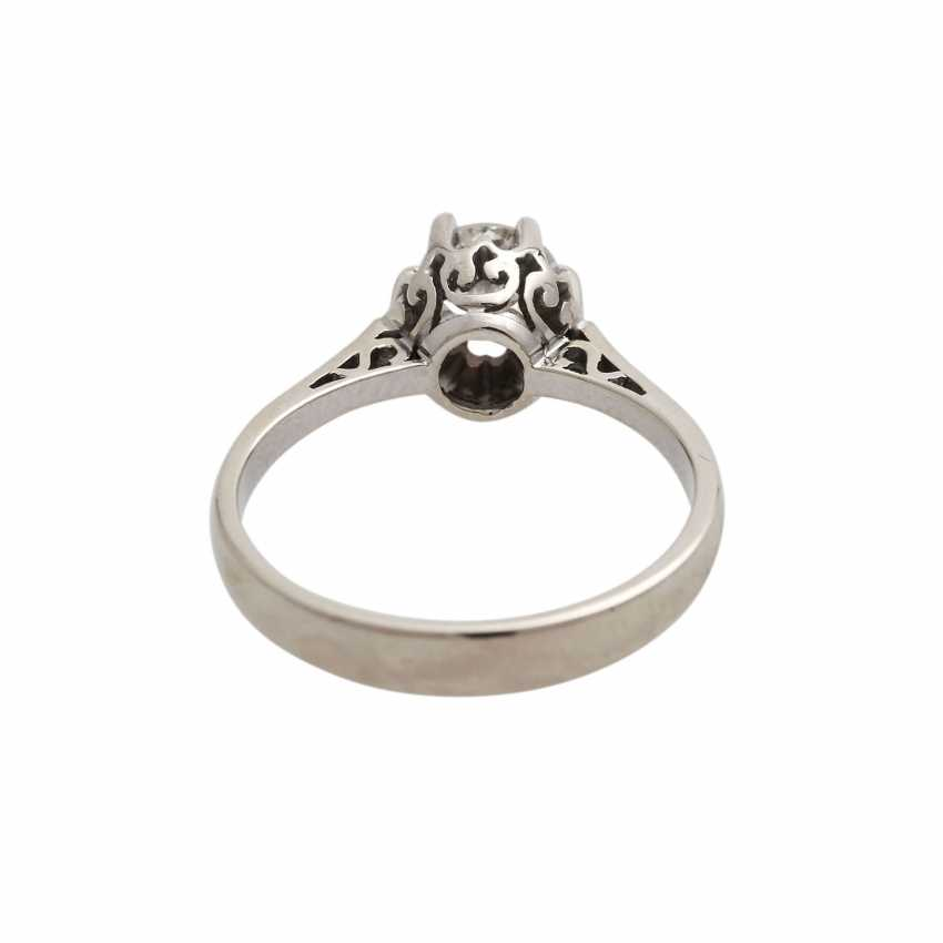 Solitaire ring with old European cut diamond, approx 0.5 ct, WHITE (H)/P1, - photo 4