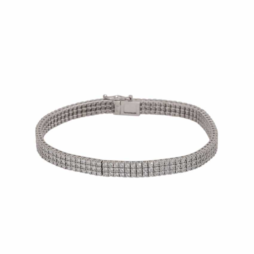 Bracelet set with approx. 282 brilliant-cut diamonds, together approx. 3 ct, - photo 1