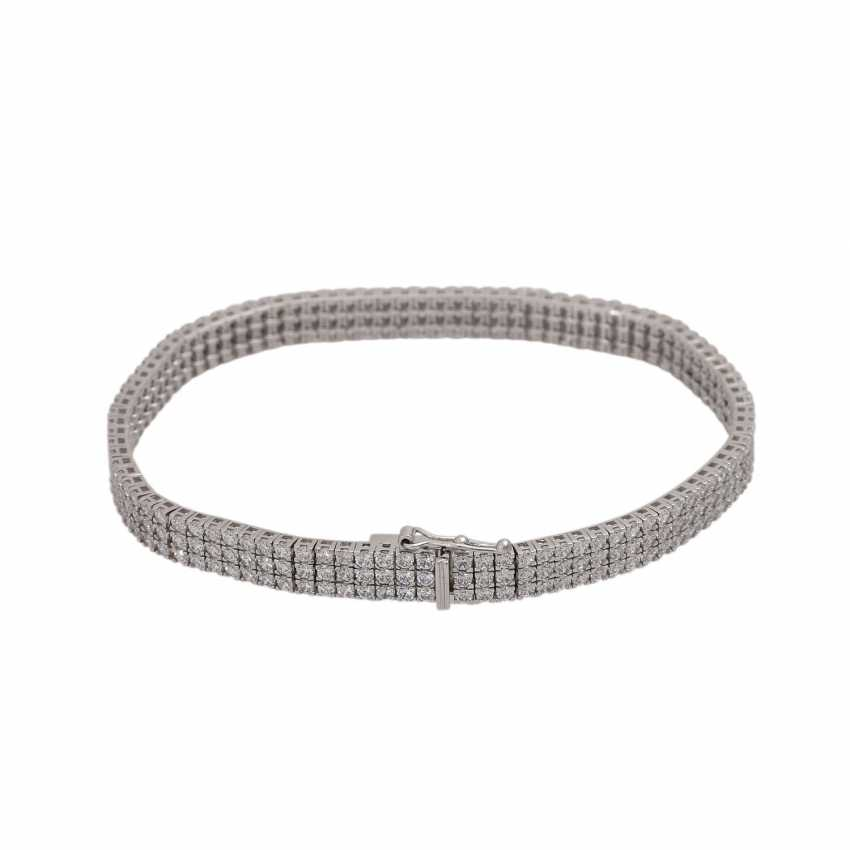 Bracelet set with approx. 282 brilliant-cut diamonds, together approx. 3 ct, - photo 2