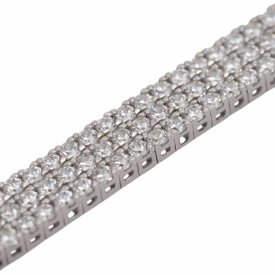 Bracelet set with approx. 282 brilliant-cut diamonds, together approx. 3 ct, - photo 5
