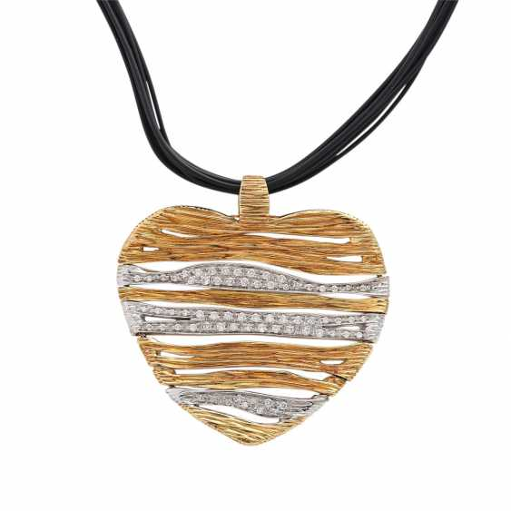 CARRERA Y CARRERA heart pendant with diamonds - photo 1