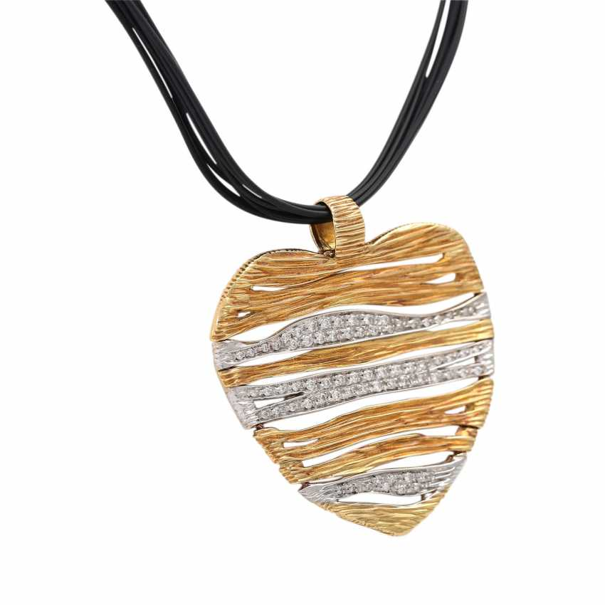 CARRERA Y CARRERA heart pendant with diamonds - photo 2