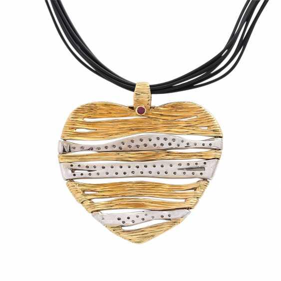 CARRERA Y CARRERA heart pendant with diamonds - photo 5