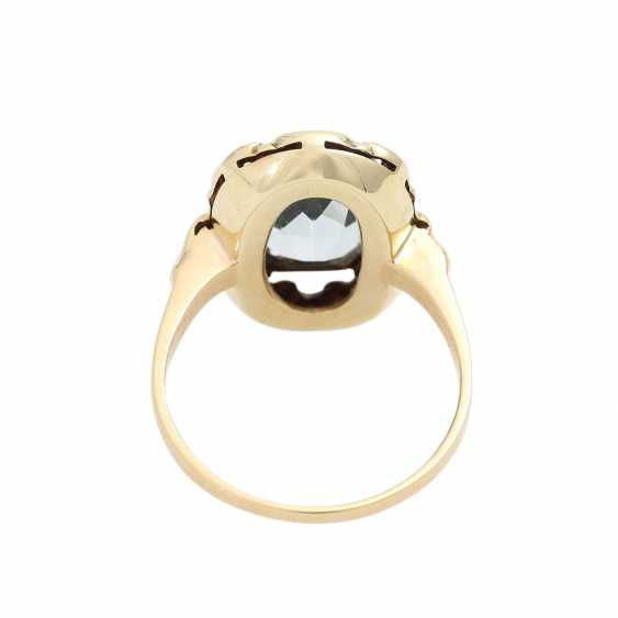 Ring with aquamarine in the octagonal scissor cut, approx. 11x8 mm, - photo 4