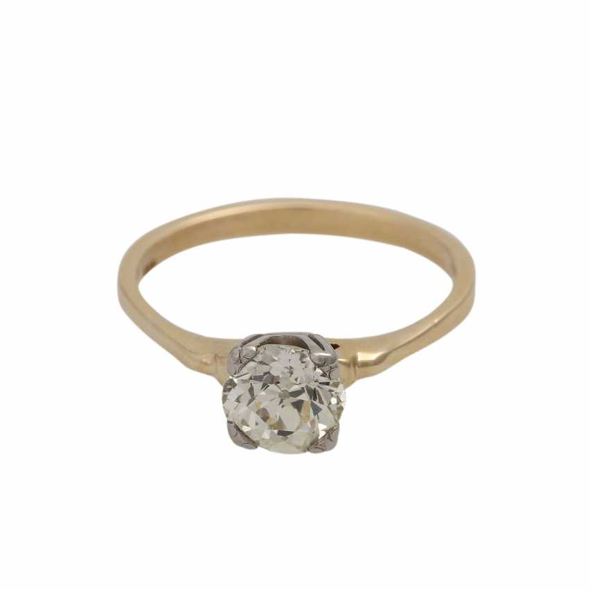 Solitaire diamond ring, approximately 1.1 ct, GET/VS, - photo 1