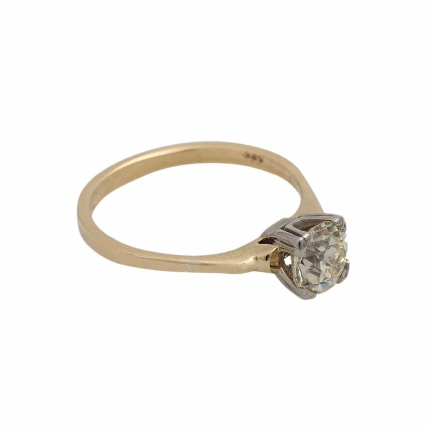 Solitaire diamond ring, approximately 1.1 ct, GET/VS, - photo 2