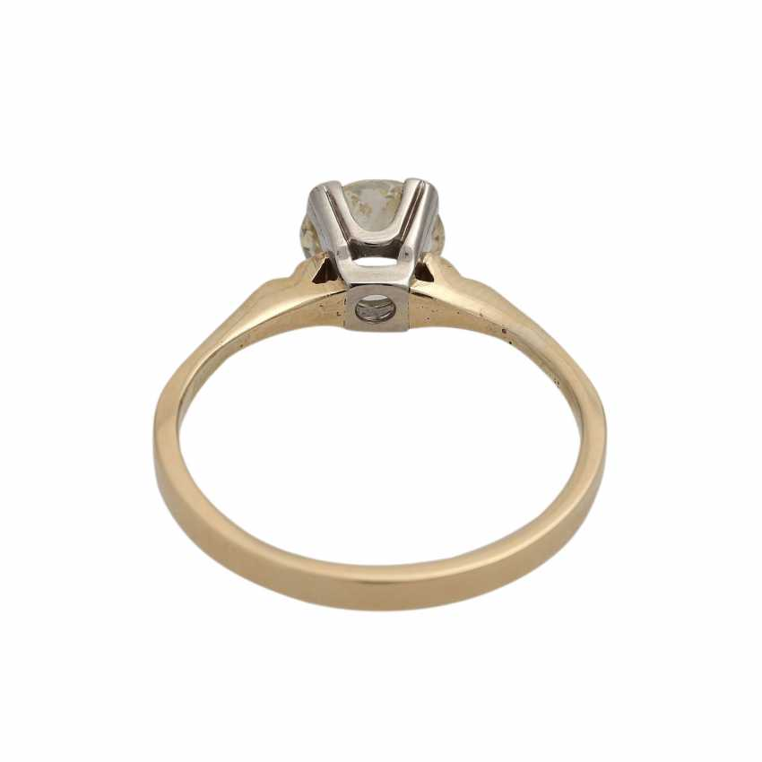 Solitaire diamond ring, approximately 1.1 ct, GET/VS, - photo 4