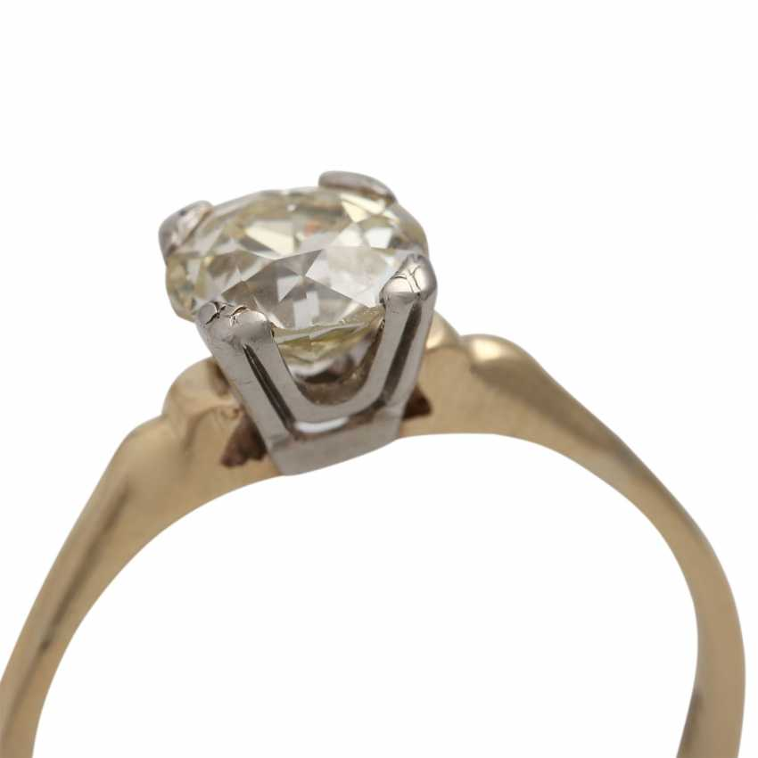 Solitaire diamond ring, approximately 1.1 ct, GET/VS, - photo 5