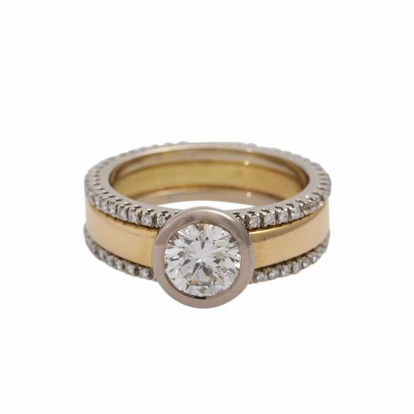 Solitaire ring with brilliant approx. of 1.4 ct, LGW (J)/P1, - photo 1