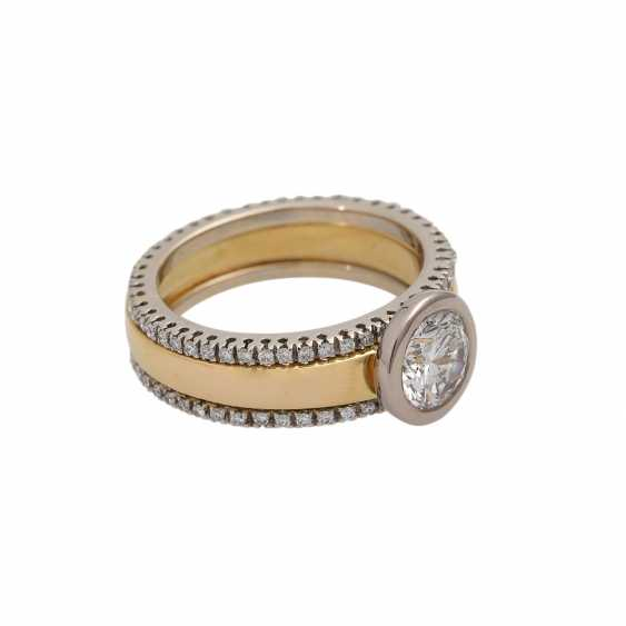 Solitaire ring with brilliant approx. of 1.4 ct, LGW (J)/P1, - photo 2
