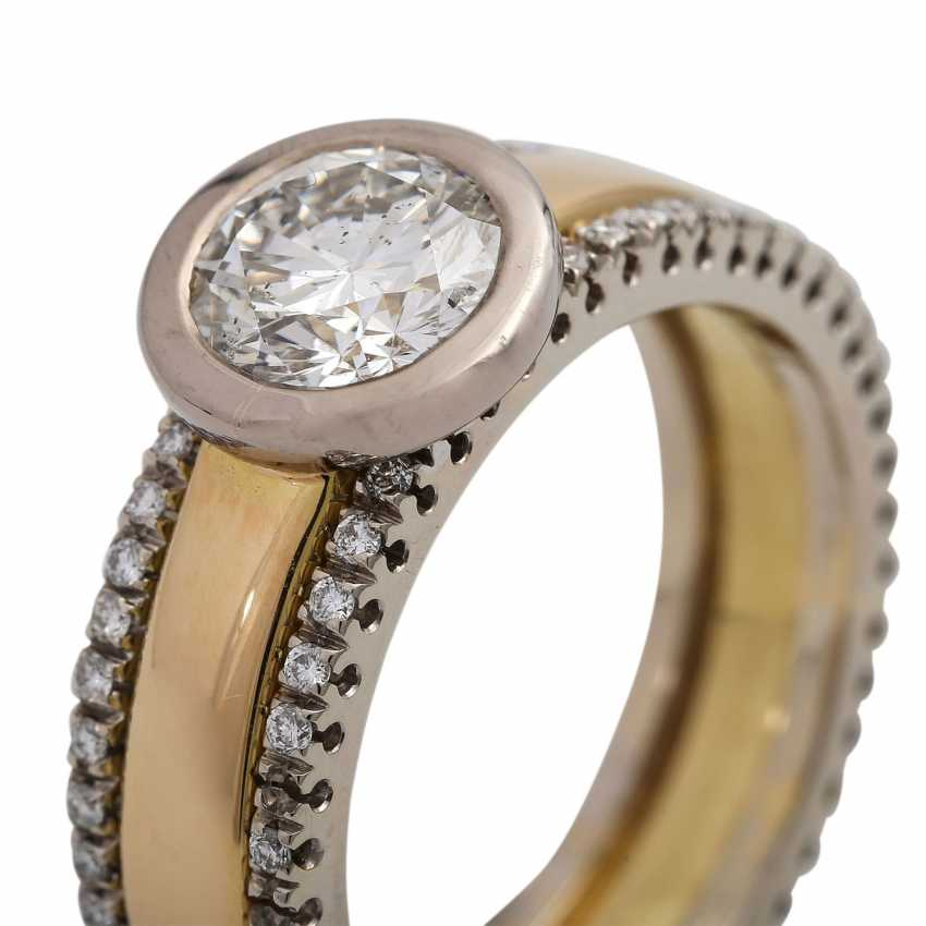 Solitaire ring with brilliant approx. of 1.4 ct, LGW (J)/P1, - photo 5
