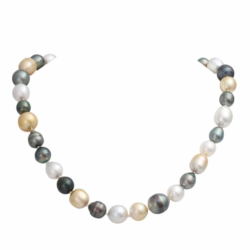Necklace, 37 South sea - and Tahiti cultured pearls - photo 1