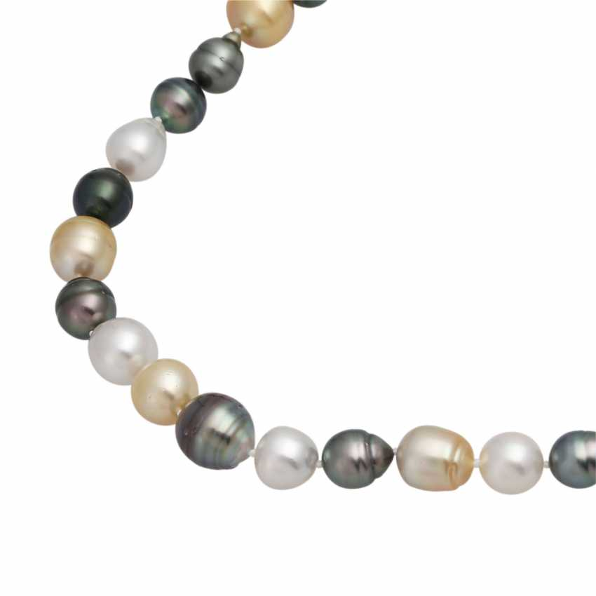 Necklace, 37 South sea - and Tahiti cultured pearls - photo 4