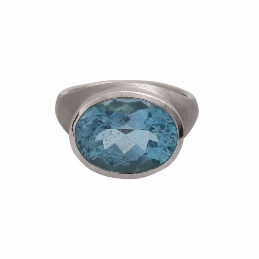 Ring with 1 aquamarine, - photo 1