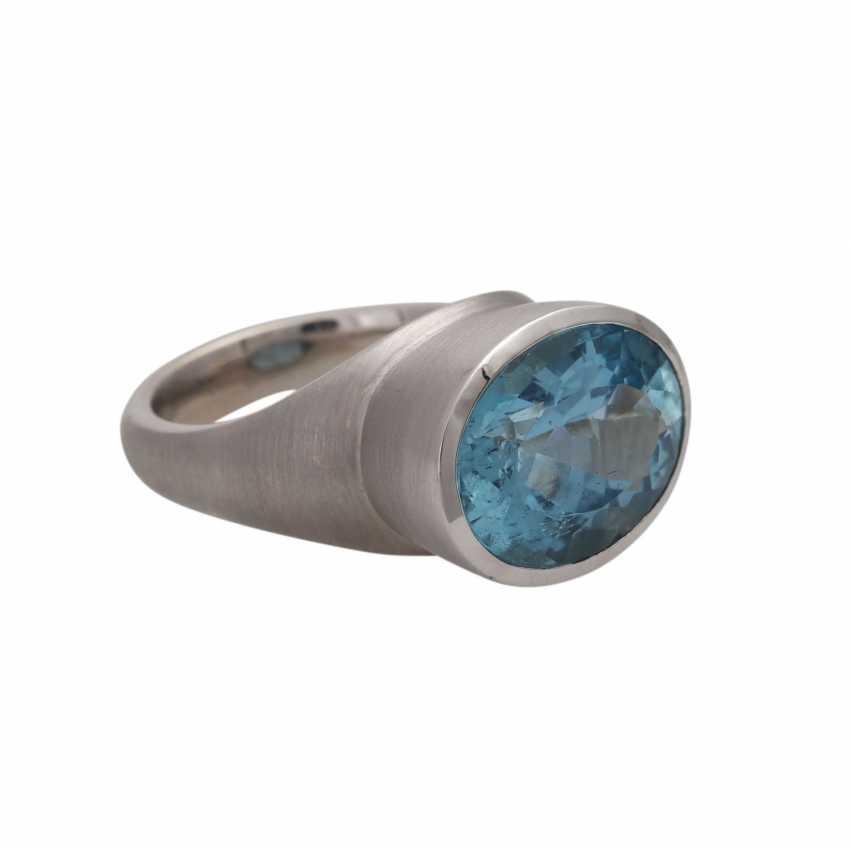 Ring with 1 aquamarine, - photo 2