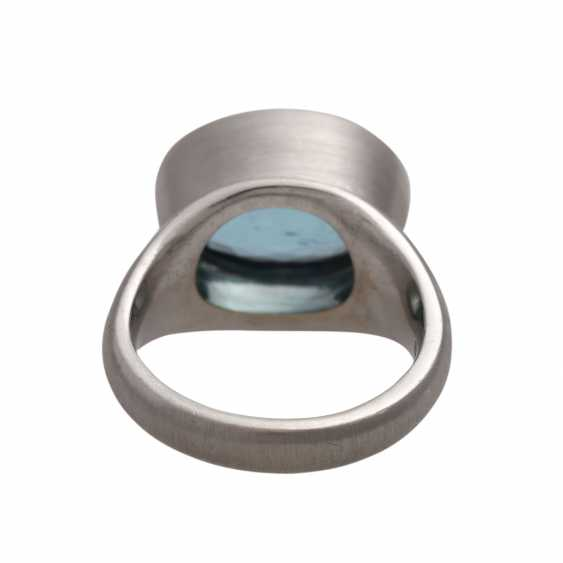Ring with 1 aquamarine, - photo 4