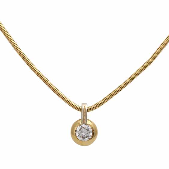 Necklace with brilliant pendant, approx 0.70 ct, - photo 2