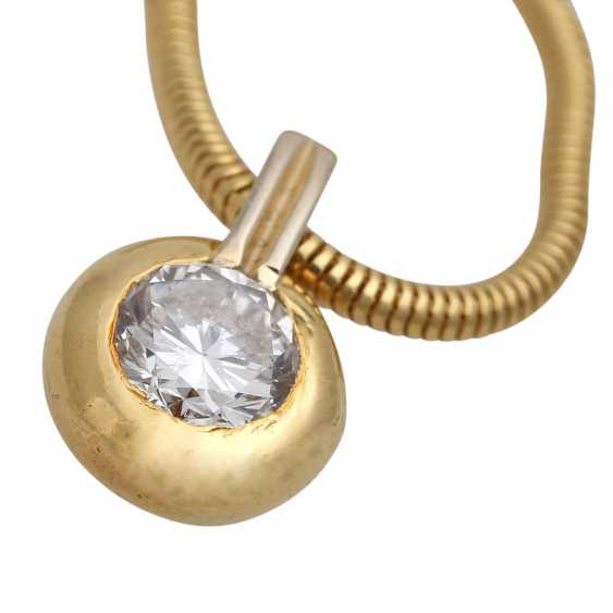 Necklace with brilliant pendant, approx 0.70 ct, - photo 5