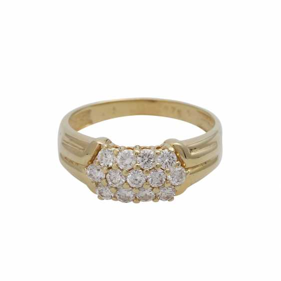 Ring with brilliant-cut diamonds, together CA. 0,75 ct - photo 1