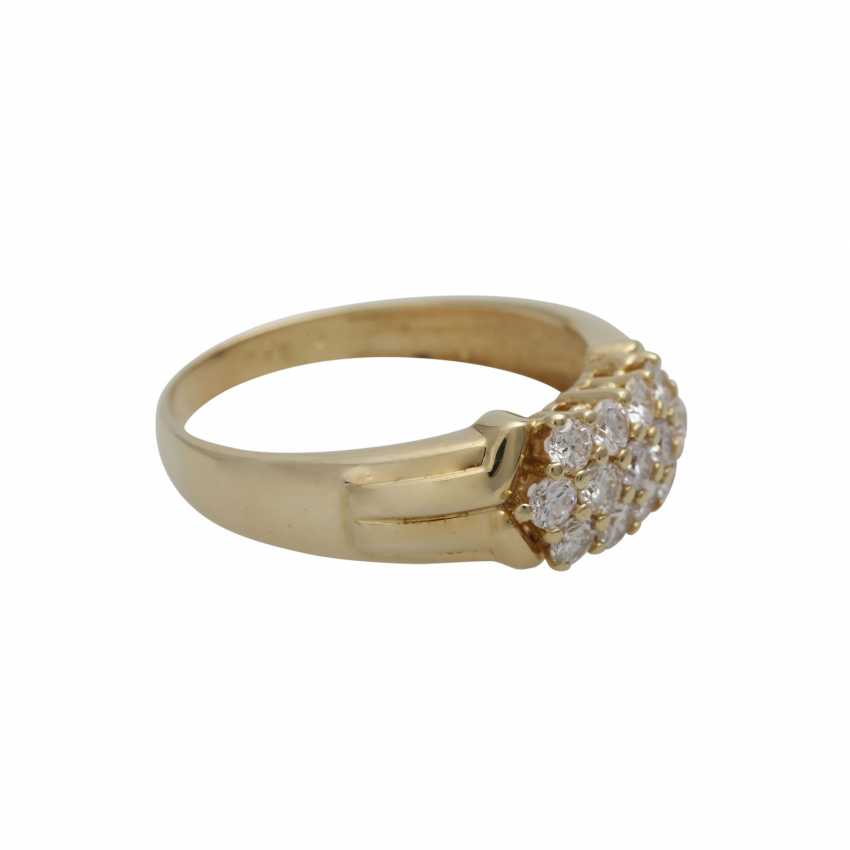 Ring with brilliant-cut diamonds, together CA. 0,75 ct - photo 2