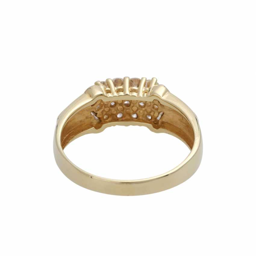 Ring with brilliant-cut diamonds, together CA. 0,75 ct - photo 4