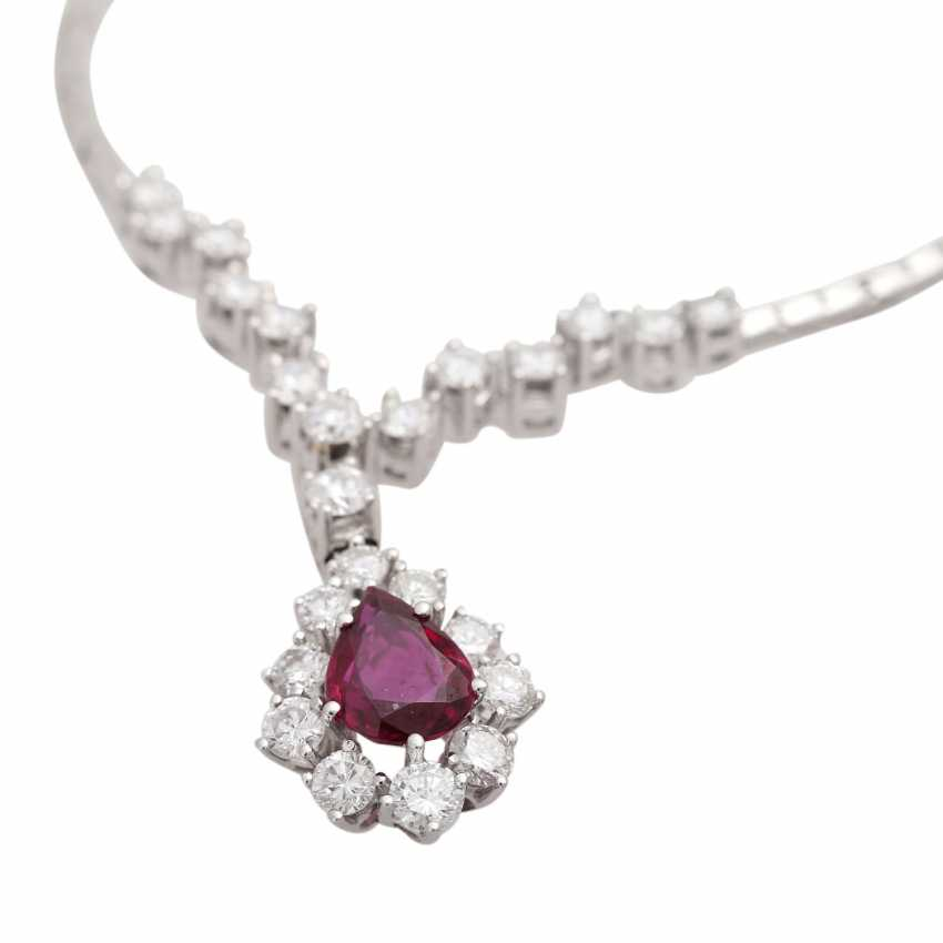 Necklace with ruby 1.4 ct and brilliant-cut diamonds - photo 5