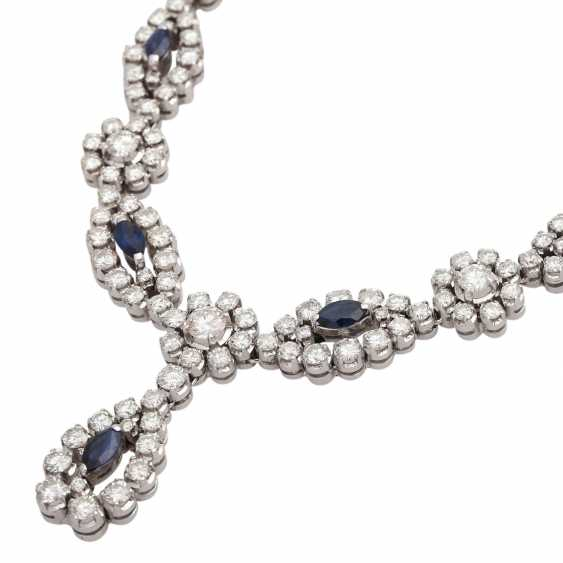 Necklace with sapphires and diamonds - photo 4