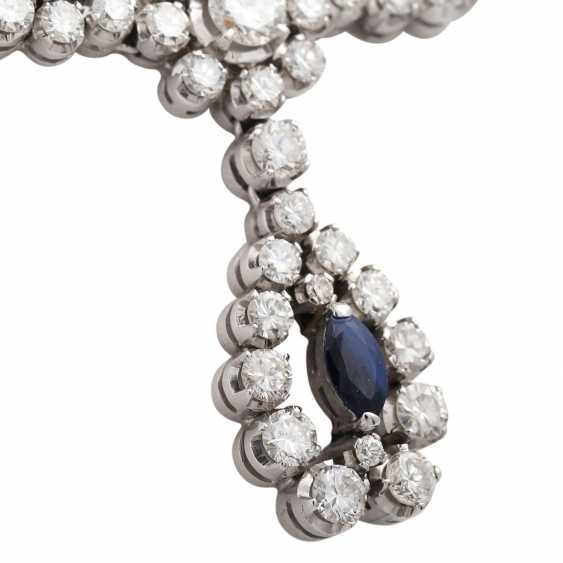 Necklace with sapphires and diamonds - photo 6