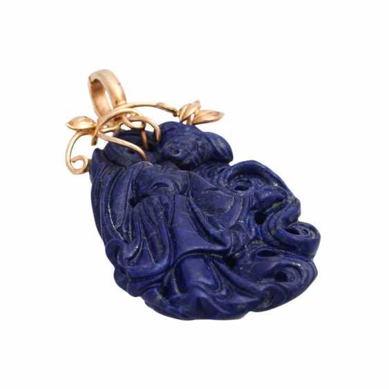 Trailer clip with lapis lazuli, - photo 3