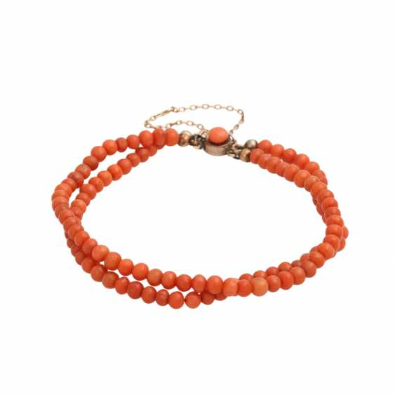 Collection of coral jewelry 4-piece, - photo 3