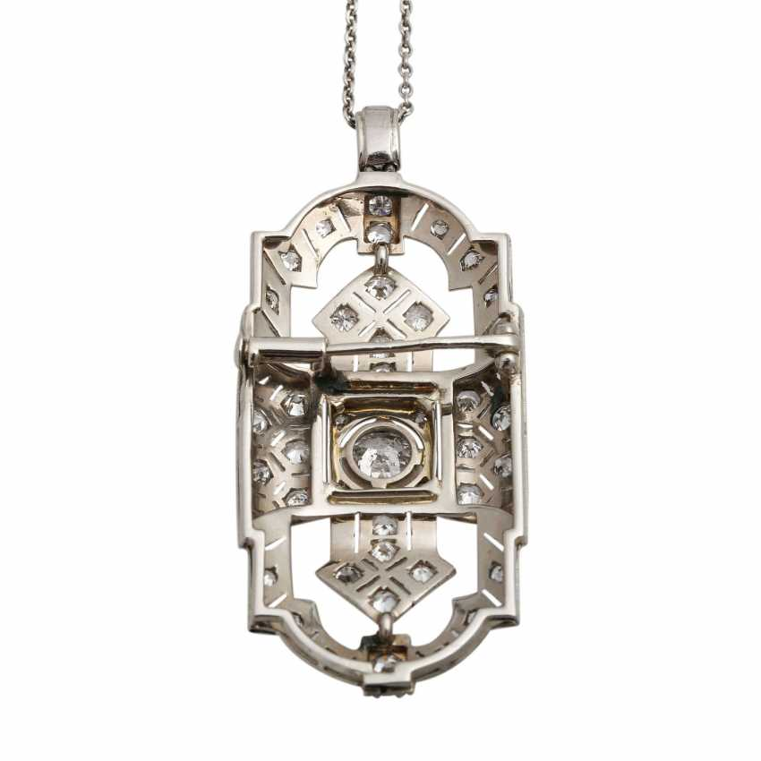 Art Deco pendant with brooch, - photo 5