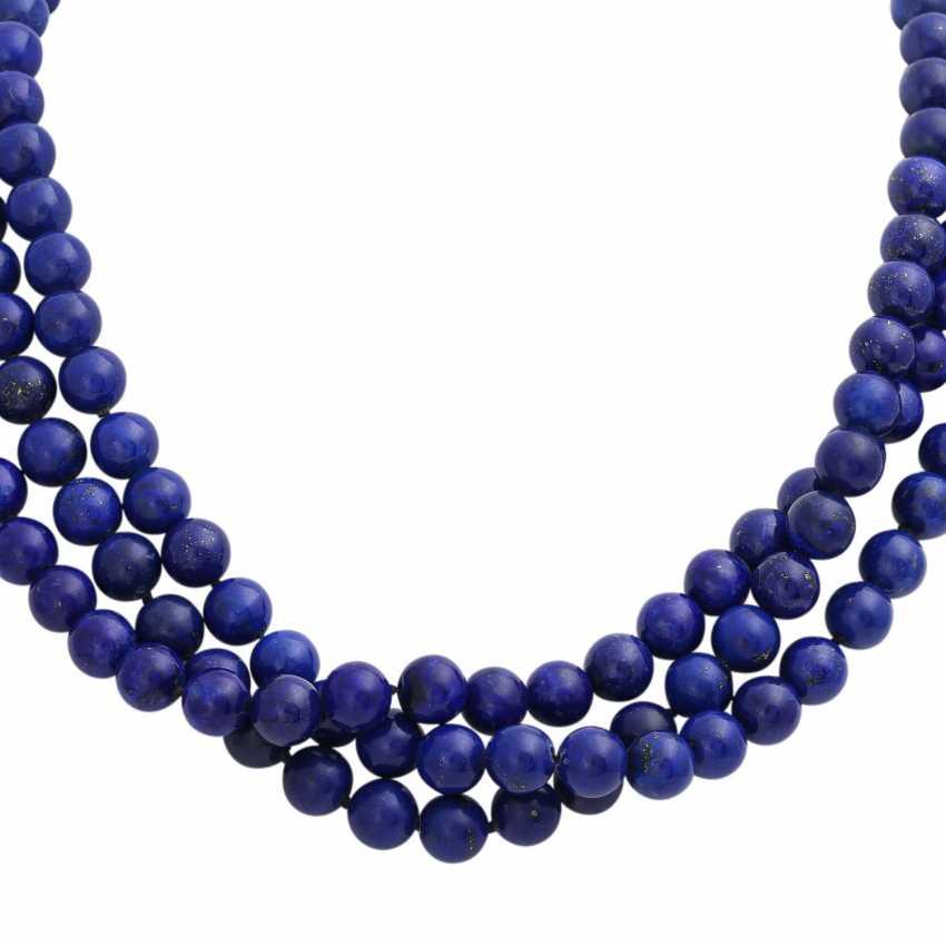 Collier of lapis lazuli balls (beh.), - photo 2