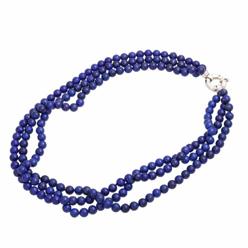 Collier of lapis lazuli balls (beh.), - photo 3