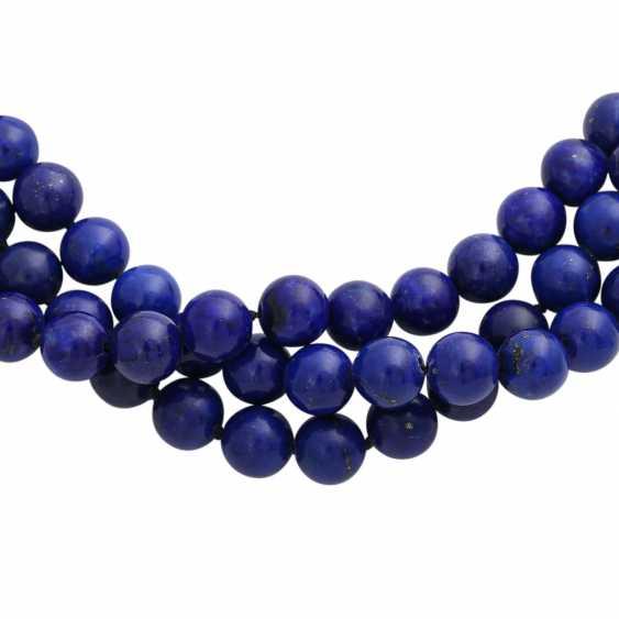 Collier of lapis lazuli balls (beh.), - photo 4