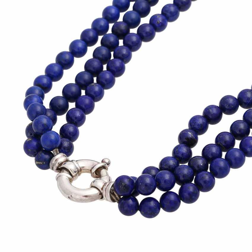 Collier of lapis lazuli balls (beh.), - photo 5