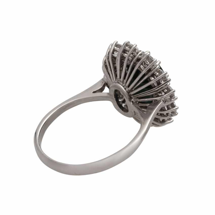 Ring mit Saphir ca. 4 ct, - photo 3