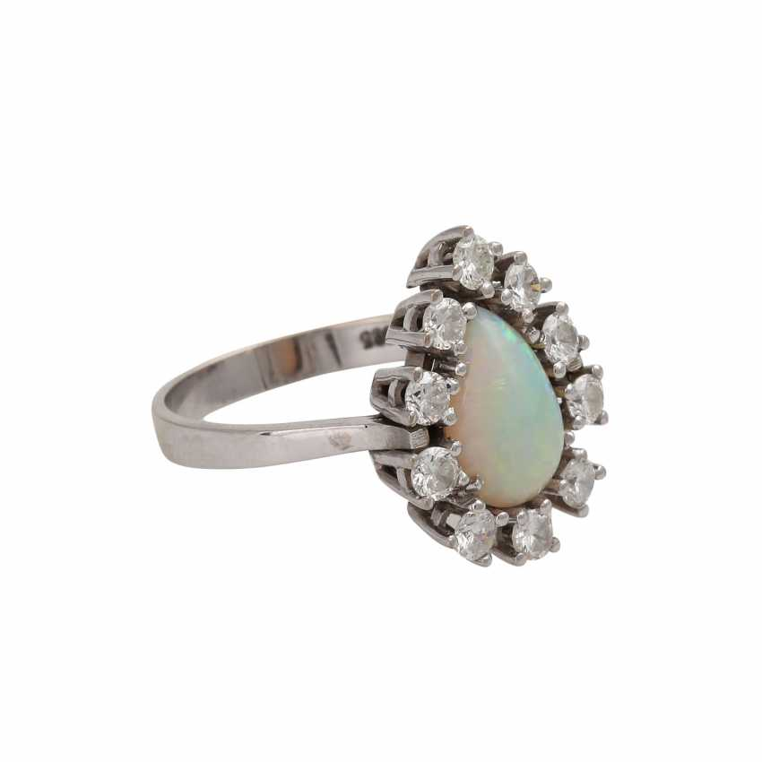 Ring with white opal drops of - photo 2