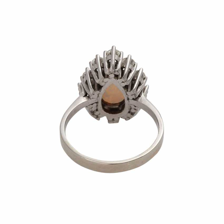 Ring with white opal drops of - photo 4