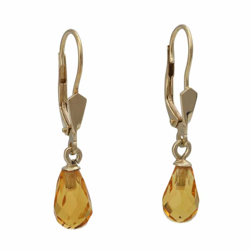 Earrings with citrines - photo 1