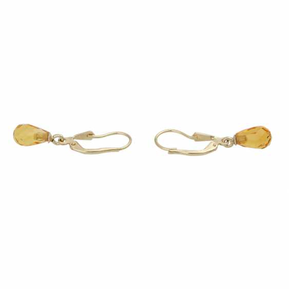 Earrings with citrines - photo 4