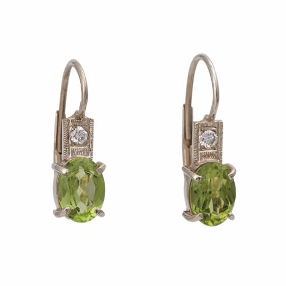 Earrings with Peridots and brilliants - photo 1