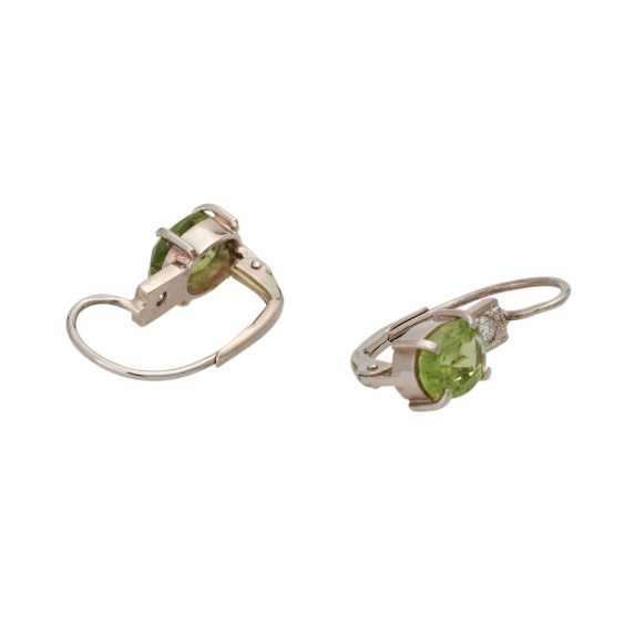 Earrings with Peridots and brilliants - photo 3