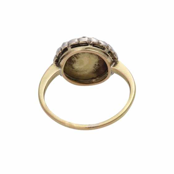Ring, with half pearl and diamonds - photo 4