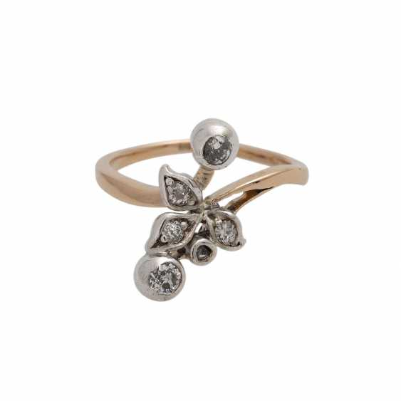 Youth style ring with old European cut diamonds - photo 1