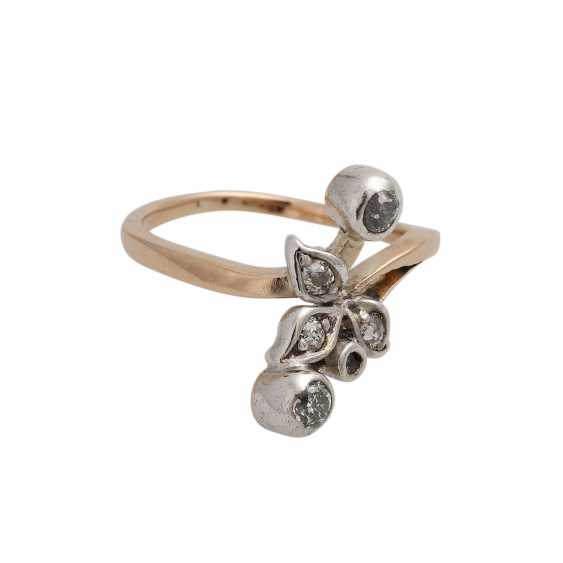 Youth style ring with old European cut diamonds - photo 2