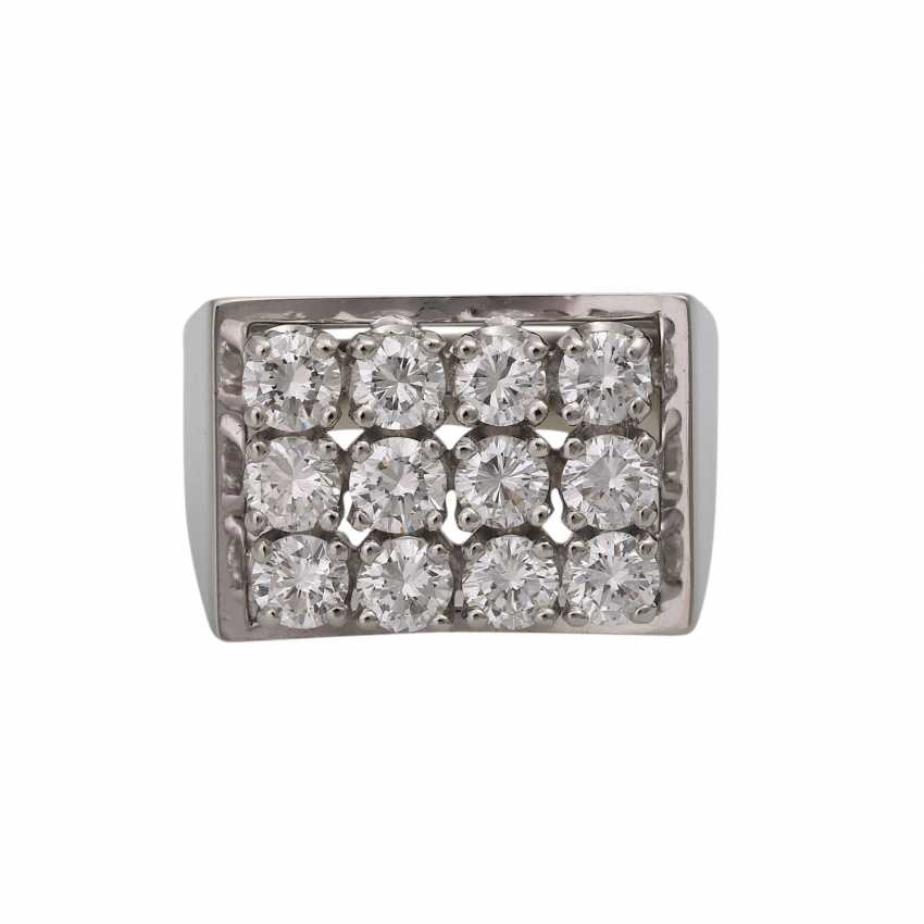 BUCHERER Ring with brilliant-cut diamonds, together approx 1.2 ct, - photo 1