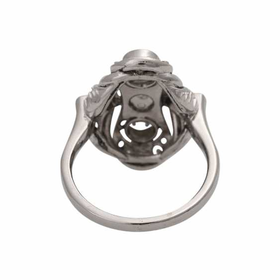 Ring with Akoya cultured pearl and diamonds together is approximately 0.7 ct - photo 4